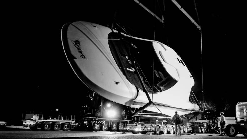 Superstructure for a 71-metre motoryacht
